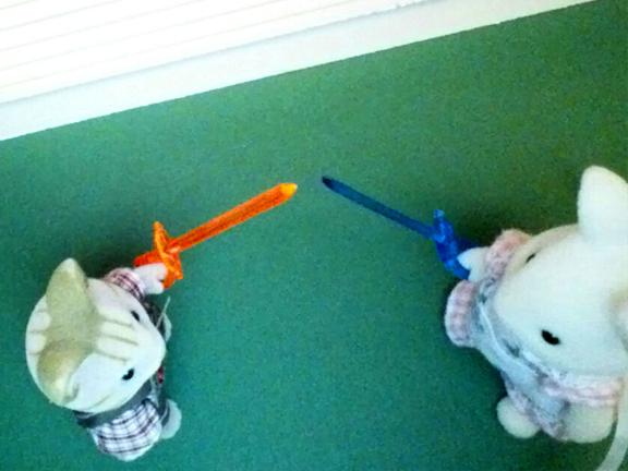 Bunny vs Kitten